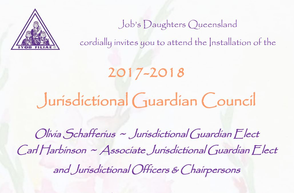 Freemasons queensland an invitation to jobs daughters formal an invitation to jobs daughters formal opening and installation stopboris Gallery
